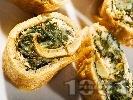 Рецепта Палачинково руло от царевично брашно със спанак и картофи